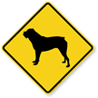 Bulldog Symbol Guard Dog Sign