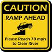 Ramp Ahead Sign