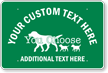 Custom Animal Crossing Text And Graphic Sign