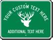 Custom Welcome Antler Symbol Sign