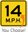 Custom Speed Limit Sign, Choose Own M.P.H