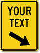 Custom Speed Bump Down Arrow Pointing Right Sign