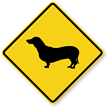 Dachshund Symbol Guard Dog Sign