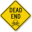 Dead End Diamond-shaped Traffic Sign
