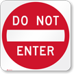 Red Do Not Enter Traffic Sign