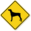 Doberman Symbol Guard Dog Sign