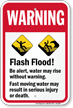Flash Flood Be Alert Water May Rise Sign