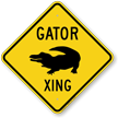 Gator Xing Road Sign