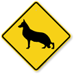 German Shepherd Symbol Guard Dog Sign