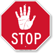 Hand Symbol Stop Sign