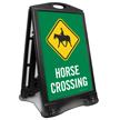 Horse Crossing Sidewalk Sign