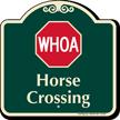 Horse Crossing Signature Sign