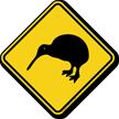 Kiwi Xing Road Sign