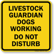 Livestock Guardian Dogs Working, Do Not Disturb Sign