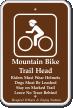 Mountain Bike Trail Head, Riders Wear Helmets Sign