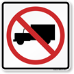 No Trucks (graphic only) Aluminum Traffic Sign