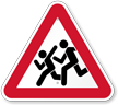 Pedestrian Crossing Road Traffic Warning Sign