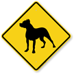 Pit Bull Symbol Guard Dog Sign