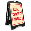 Road Closed Ahead Sidewalk Sign Kit