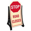 Road Closed Stop Sidewalk Sign Kit