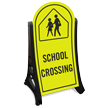 School Crossing Sidewalk Sign Kit