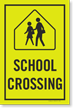 School Xing Sign