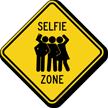 Selfie Zone Diamond Crossing Sign