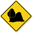 Shih-Tzu Symbol Guard Dog Sign