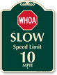 Slow Speed Limit Signature Sign