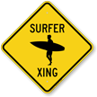 Surfer Xing Symbol Crossing Sign