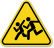 Watch For Children Road Crossing Sign Symbol