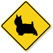 Yorkie Symbol Guard Dog Sign