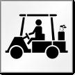 Golf Cart Symbol Stencil