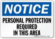 Blue Safety Notices Sign