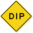 Dip - Road Warning Sign