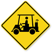 Golf Cart Symbol - Traffic Sign