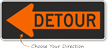 Detour Inside Left Arrow - Traffic Sign