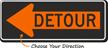 Detour Inside Left Arrow - Traffic Sign