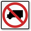 No Camper Van, Trucks Road Traffic Sign