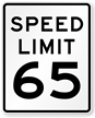 65 Speed Limit Sign