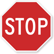 Stop Road Traffic Regulatory Sign