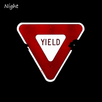 Yield Traffic Regulatory Sign