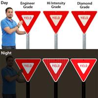Yield Traffic Regulatory Sign