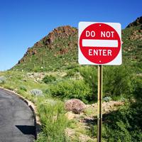 Do Not Enter Road Traffic Sign
