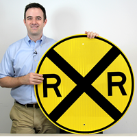 Railroad Crossing - Traffic Sign
