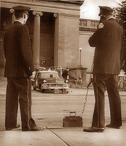 Using a Radar Gun to catch Speeders - Chicago, 1956