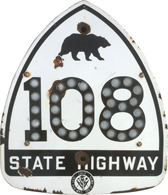 California Route 101 Marker with Cat's Eyes