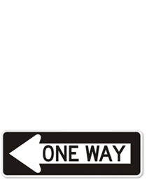 One-Way signs in 2000