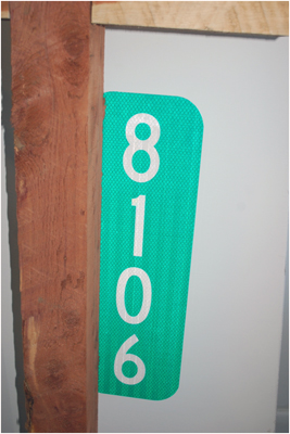 Reflective Housing Number Sign