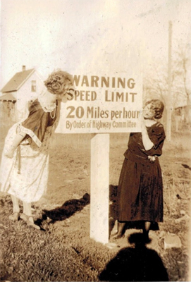 1930s Speed Limit Sign